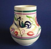Vintage Poole Pottery LE Pattern Vase by Truda Carter c1960
